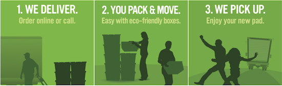 Banner: Moving Boxes Rental