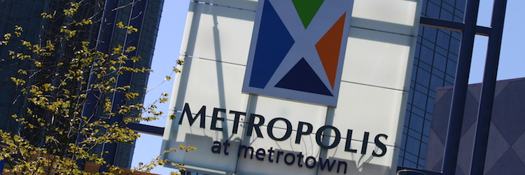 Sign: Metropolis at Metrotown